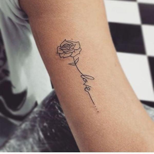 22 tatuagens de rosas delicadas e inspiradoras para a sua pr xima tattoo p gina 6 de 9 123. Black Bedroom Furniture Sets. Home Design Ideas