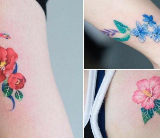 tatuagens de flores