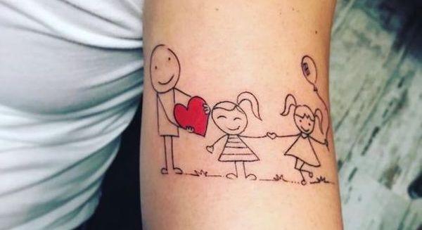Tatuagens para homenagear os filhos