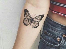 tatuagens femininas de borboletas