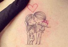 tatuagens de homenagem aos filhos