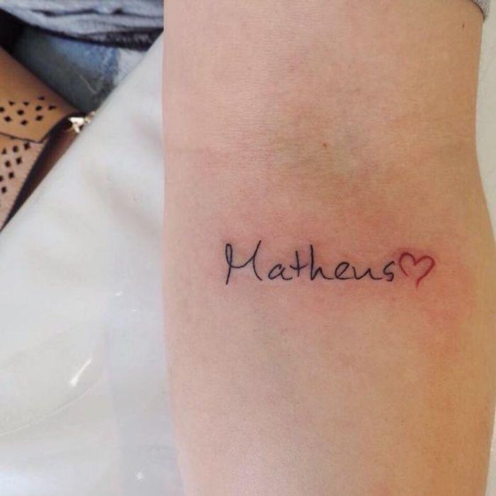 Tatuagens Nome Filhos 8 123 Tatuagens